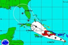 Tropical Storm Isaac: path shifts slightly west