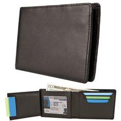 c56fb1dc1 Men's Genuine Leather Slim Billfold Wallet RFID Blocking Card Holder Money  Clip | eBay
