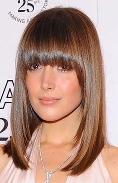 Rose Byrne Medium Straight Cut with Bangs - Medium Straight Cut with Bangs Lookbook - StyleBistro