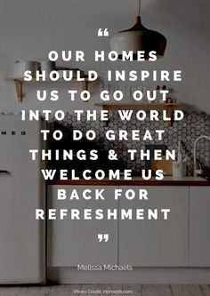 Great quote!! Home is a sanctuary! #homedecor #interiordesign #quote