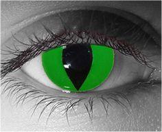 SALE Green Reptile Contact Lenses / Pair Non prescriptions