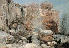 Effet de neige dans une carrière, par Gustave Courbet