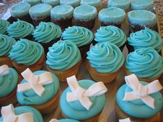 Tiffany Blue Cupcakes for a Bridal Shower by Flour & Sun, via Flickr