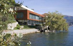 Architect: Bruno Huber Architetti / Photographer: Stefano Spinelli / Product: Vitrocsa sliding doors / Location : Paradiso, Switzerland