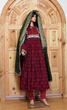antique Vintage afghanistan nomadic Kuchi ethnic traditional dress costume No-4