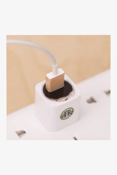 Iphone 4/5/6 Charger Coffee Sticker. Art Decals By Moooh!! #app-gadgets #iphone-charger-stickers #under-10