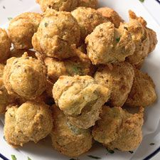 Herb and Garlic Puffs - These small, deep-fried puffs are a great addition to a finger-food buffet.