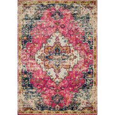 Terrell Updated Traditional Pink Area Rug Area Rugs