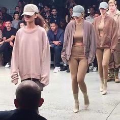 Kylie and Bella Hadid walking for Yeezy Season 2 show #NYFW #YeezySeason2 | @kyliejenner #kyliejenner