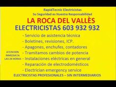 Electricistas LA ROCA DEL VALLÈS 603 932 932 Baratos