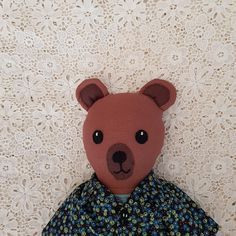 Check out this item in my Etsy shop https://www.etsy.com/au/listing/580833336/bear-doll-cloth-bear-doll-soft-bear-doll