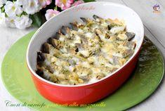 Cuori di carciofo gratinati alla mozzarella-ricetta contorni-golosofia