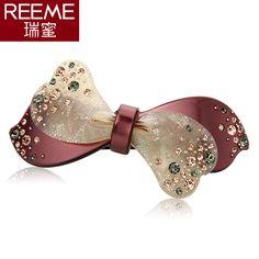 South Korea headdress bow hairpin hairpin cross clamp spring clip son rhinestones top