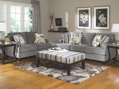 Ashley Furniture Yvette Steel Sofa & Love Seat