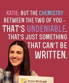 Merlin Cast on Merthur:Angel and Katie