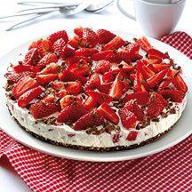 Erdbeer-Schokoknusper-Torte