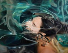 Women Under Water Painting by Reisha Perlmutter