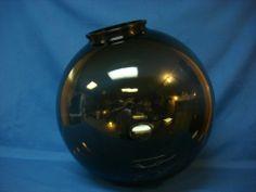 "16"" Acrylic Smoke Plastic Round Globe Outdoor Light Fixture Street Lamp Post New | eBay"