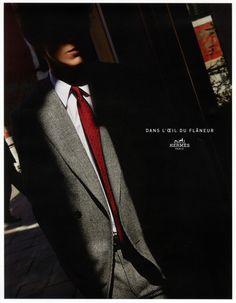 Magnum Photos : Harry Gruyaert Hermes Campaign Autumn Winter 2015 Magnum Photos, Mens Dress Coats, Newspaper Design Layout, Gq Australia, Fashion Advertising, Fall Winter 2015, Autumn, Strike A Pose, Hats For Men