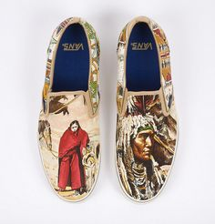 Custom Vans by Vans66 made for Robert Verdi. Designs based on vintage Hermes scarves.