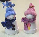 Clay Craft Supplies | Free Holiday Craft Pattern - Clay Pot Christmas Snowmen Craft ...