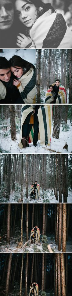 Canadian Winter Wonderland Engagement Shoot    The Entrance Collective