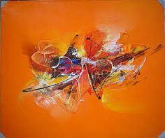 modern abstract silver and blue painting - Google Search