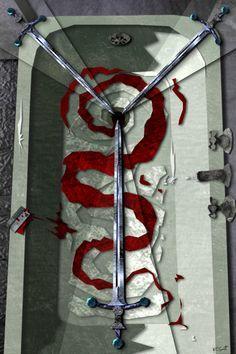 the Urban Tarot 3 of swords