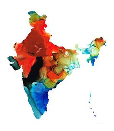 Map Of India By Sharon Cummings