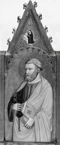 Maestro della Dormitio di Terni - San Pietro; Maria Vergine annunciata - Milano, Museo Diocesano