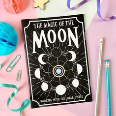 Moon Phases Notebook. Moon Phase Book. Magic of the Moon. Witch's Notebook. Moon Notepad. La Luna Notebook. Witchcraft. Witch Vibes. Moon