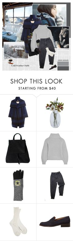 """Cozy Winter"" by rainie-minnie ❤ liked on Polyvore featuring Nana', Burberry, Iris & Ink, Kenzo, Levi's, Comme des Garçons and MANGO"