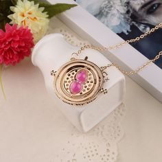 Hot sales Fashion Gold Hourglass Harry Potter TimeTurner Necklace Hermione Granger Rotating Spins Statement Necklaces For Women-in Chain Necklaces from Jewelry on Aliexpress.com | Alibaba Group