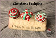 Post Christmas items with these cute handmade glass pushpins!