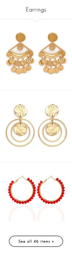 """Earrings"" by dalalaljryan on Polyvore featuring jewelry, earrings, metallic, chandelier earrings, kenneth jay lane earrings, charm earrings, gold plated drop earrings, chandelier drop earrings, accessories and brinco"