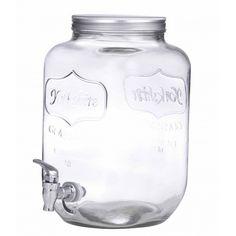 Anna Gare glazen waterkan / sapkan met kraantje