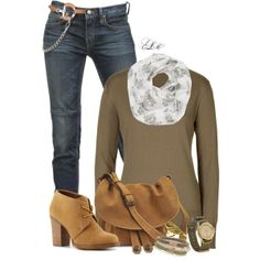 """Nubuck Bootie"" by tmlstyle on Polyvore"