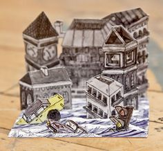 Drowned City  a Hurricane Sandy Reliefe Diorama by LoucheLab, $18.00