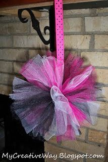 how to make tulle pompoms