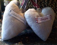 DIY linen ornaments (make one for Papa and Grandma)