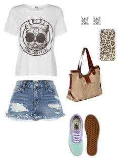 """""""Untitled #4764"""" by northamster ❤ liked on Polyvore featuring Lipsy, River Island, Vans, yeswalker, Accessorize and Isaac Mizrahi"""