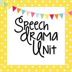 Speech Drama Unit for Middle & High School Drama Drama Teacher, Drama Class, Drama Drama, Teaching Theatre, Teaching Tools, Teaching Resources, Middle School Drama, Drama Activities, Drama Education