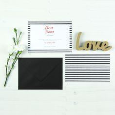Invitación boda LONDON Summer Of Love, Letter Board, Lettering, Modern Wedding Invitations, Invitation Design, The Originals, Blanco Y Negro, Calligraphy, Letters