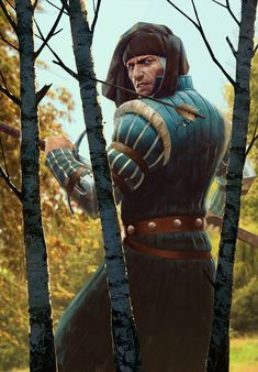 The Witcher/ Vernon Roche/ Gwent Card/ Northern Realms The Witcher Game, Witcher Art, High Fantasy, Fantasy Art, Dungeons And Dragons, Vernon Roche, Character Art, Character Inspiration, Character Concept