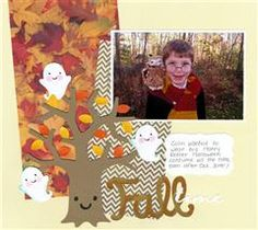 Autumn Chall:  scrapbook layout page using the Create A Critter 2 sneak peek images and Expression 2.