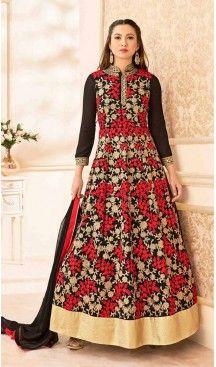 Black Color Georgette Long Anarkali Style Pakistani Salwar Kameez | FH542681467 Follow Us @heenastyle << #pakistanifashion #onlineshoppingusa #heenastyleonlineshoppingindia #onlineshoppingusa #onlineshoppingindia #saree #sari #indianwear #indiangirls #indiagirl #boutiquecowgirl #countrygirls #onlineshoppingusa #classyfashion #classyladies #cutoutdress #luxurylook #littlewhitedress #stylists #fashion #fashionista #onlineshoppingusa #shopmystore #outfitideas #girlsbelike #heenastyle