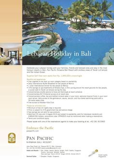 Celebrate your #Lebaran #Holiday at the most tranquil #resort in #Bali #PanPacificBali #TravelDiary #Resort #TanahLot