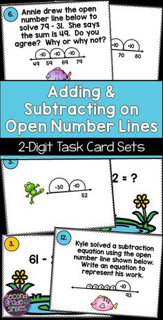 69471 best super second grade images on pinterest school if your students can use practice using open number lines with addition and subtraction of two fandeluxe Images