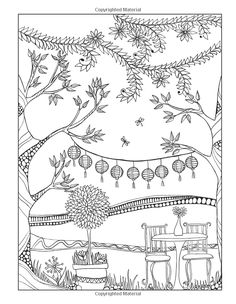 Inkspirations for Women: Color Your World Inspiring Designs to Nourish Your Heart and Renew Your Spirit Garden Coloring Pages, Cute Coloring Pages, Flower Coloring Pages, Adult Coloring Pages, Colorful Garden, Digi Stamps, Pictures To Draw, Tree Art, Colorful Pictures