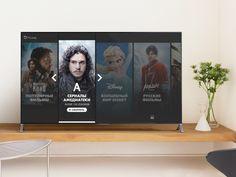 New product for Smart TV - Smart TV - Ideas of Smart TV - Okko. New product for Smart TV by Serega Mekrukov Tv 40, Web Design, Design Trends, Lg Tvs, First Tv, Digital Signage, Ui Inspiration, Smart Tv, Apple Tv